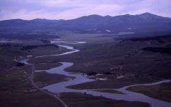 Yellowstone River, Hayden Valley & Washburn Range Photo