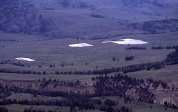 Aerial view of kettle Ponds, Little America Flats, Yellowstone Canyon, Lamar River near Junction Butte Image