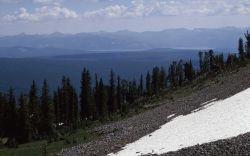 Absoroka Range & south end of Yellowstone Lake from Mt Sheridan Image