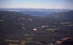 Aerial of Pelican Valley & Yellowstone Lake Image