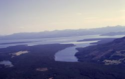 Aerial of southeast arms of Yellowstone Lake Image