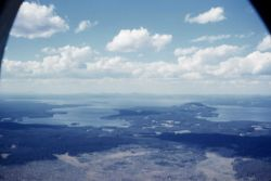 Aerial view of South & Southeast arms of Yellowstone Lake Image