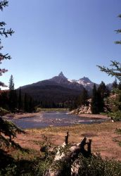 Clarks Fork of the Yellowstone with Pilot & Index Peaks in background - east of Cooke City Photo