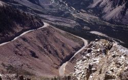 Switchbacks on Beartooth highway - Red Lodge side Photo