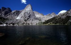 Pingora Peak, Lonesome Lake at Cirque of the Towers, Wind River Range, Popo Agie Wilderness, Shoshone National Forest, Wyoming Photo