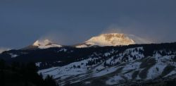 Pack Saddle Pk. and Steamboat Mtn., Gallatin Mountains, north of Gardiner, MT Photo