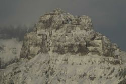 Amphitheater Mountain in the winter Image