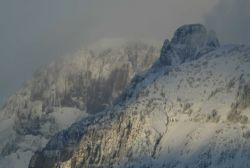 Abiathar Peak in the winter Image