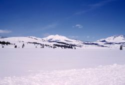 Swan Lake Flats & Electric Peak in the winter Photo