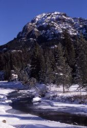 Abiather Peak & Soda Butte Creek in the winter Image