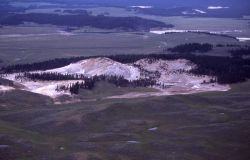 Aerial view of Crater Hills - Mud Volcano area Image