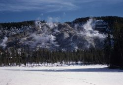 Roaring Mountain - Norris Geyser Basin Photo