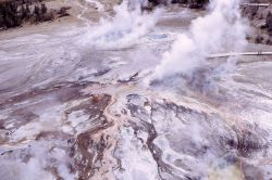 Aerial view of Black Sand Basin - Upper Geyser Basin Image