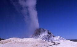 White Dome Geyser erupting, Firehole Lake Drive - Midway & Lower Geyser Basin Photo