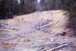 Ebony Geyser, inactive - Norris Geyser Basin Photo