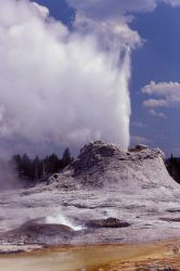 Castle Geyser & Tortoise Shell Spring - Upper Geyser Basin Photo