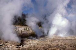 Fan & Mortar Geysers - Upper Geyser Basin Photo