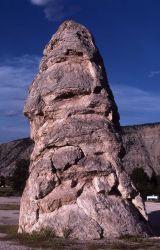 Liberty Cap - Mammoth Hot Springs Photo