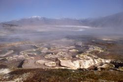 On top of Main Terrace - Mammoth Hot Springs Photo