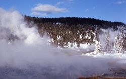 Hot Lake in winter - Hot Springs, Midway & Lower Geyser Basin Photo