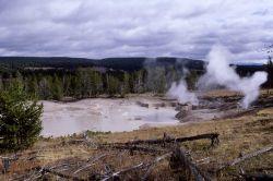 Mud Geyser - Hot Springs, Mud Volcano area Photo
