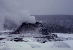 Castle Geyser in winter Photo