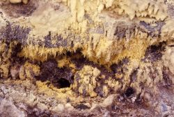 Sulfur crystals - Sylvan Springs - Mineral deposits Photo