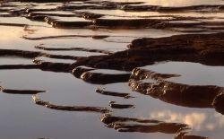 Sinter terraces - Fountain Paint Pot area - Mineral deposits Photo