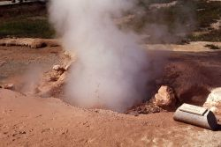 Red Spouter in Fountain Paint Pot - Mud Pots, Midway & Lower Geyser Basin Photo