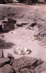 Mud pot near Sulfur Cauldron - Mud Volcano area Photo