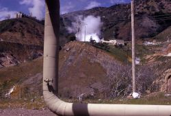 The Geysers - Sonoma Co., California - steampipe from drill hole to plant Photo