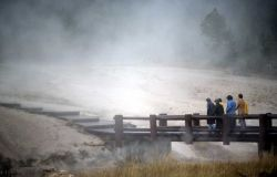 Rainy evening in the Upper Geyser Basin Photo
