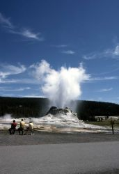 Visitors at Castle Geyser Photo