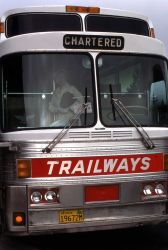 Trailways tour bus Photo