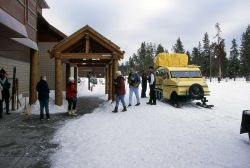 Visitors at Old Faithful Snowlodge Photo
