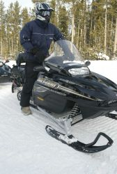 Four stroke snowmobile in the winter Photo