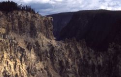 Wall of the Grand Canyon of Yellowstone Photo
