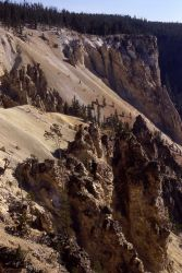 Wall & spires in the Grand Canyon of Yellowstone Photo