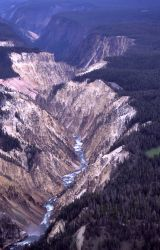 Aerial view of the Grand Canyon of Yellowstone Photo