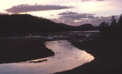 Firehole River in the evening Photo
