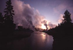 Firehole River in the morning Photo