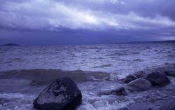 Storm on Yellowstone Lake Photo