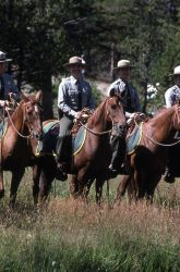 Dedication of the Museum of the National Park Ranger at Norris (mounted rangers) Photo