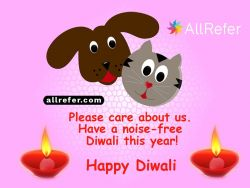 Happy Diwali - Please care about us. Have a noise-free Diwali this year Photo