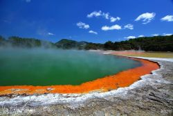 Champagne Pool, North Island, New Zealand Photo