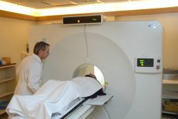 PET scan machine in NIMH IRP with patient Photo