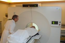 PET scan machine with patient Photo