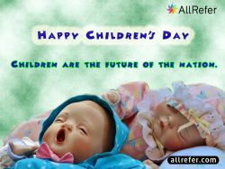 Happy Children's Day - Children are the future of the Nation Photo