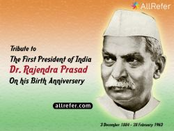 First President of India, Dr. Rajendra Prasad Photo