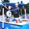 Maintaining gear on one of the small boat fishing fleet vessels Photo